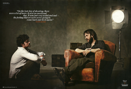 Orlando Bloom and Peter Jackson - EW, Oct 2010