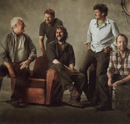 Bernard Hill, Sean Bean, Peter Jackson, Orlando Bloom, and Billy Boyd - EW, Oct 2010