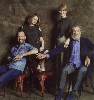 Hugo Weaving, Miranda Otto, Cate Blanchett, and Ian McKellen - EW, Oct 2010